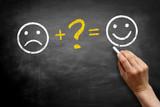 Unhappy + ? = Happy - 63012627