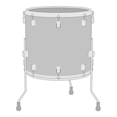 cartoon image of musical instrument - drum