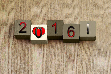 Love for 2016, sign series for calendar years and dates.