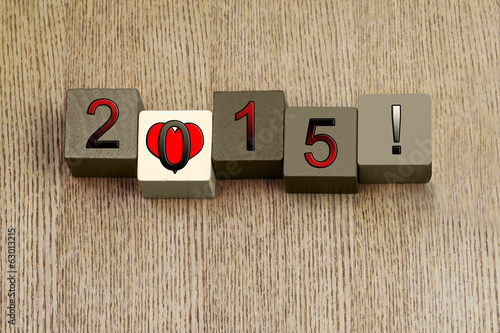 Love for 2015, sign series for calendar years and dates.