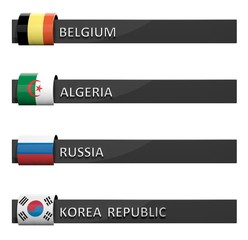 Group of score charts Belgium,Algeria,Russia,Korea Republic