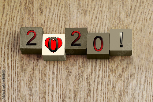 Love for 2020, sign series for calendar years and dates.
