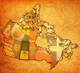 Saskatchewan on map of canada