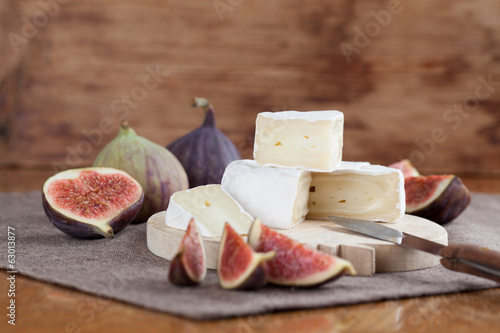 Camembert and figs