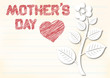 mothers day greeting card with pencilled text and place for text