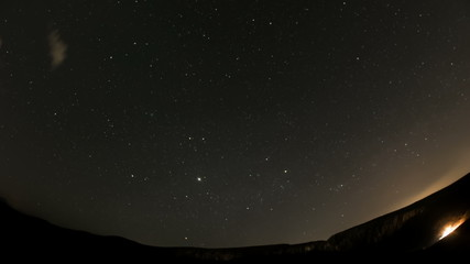 Turzii Gorge stars night time lapse