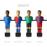 Table football, foosball players. Group E.