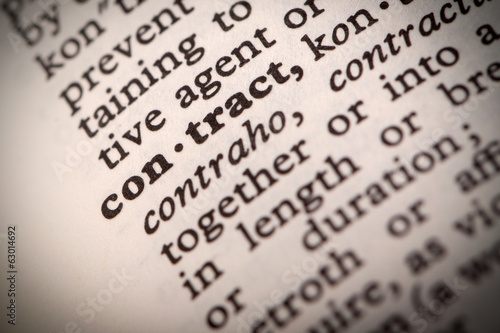 "The word ""Contract"" in a dictionary"