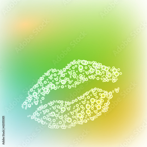 vector lips illustration, all easy editable