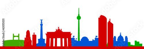 Skyline Berlin bunt