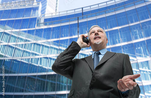 Businessman taliking on the phone
