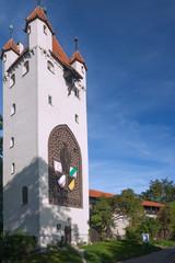 Allgäu, Kaufbeuren, Fünfknopfturm, Stadtmauer