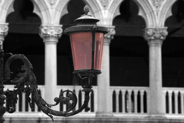 Lantern on St. Mark's Square in Venice