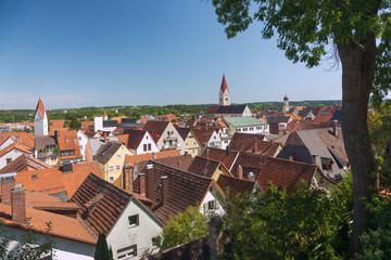 Allgäu, Kaufbeuren, Stadtpanorama von St. Blasius mit Stadtpfar