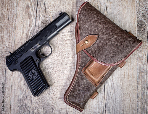 Soviet gun with holster