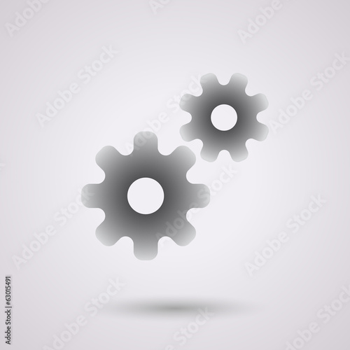 black gears background