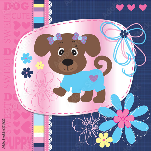 cute puppy dog vector illustration