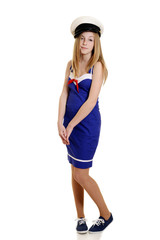 innocent teen girl in sailor suit