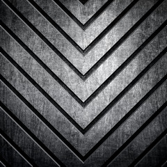 metal background with arrows pattern