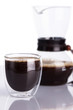 Cup of coffee and chemex. Shallow dof.