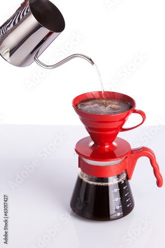 Brew coffee in pour-over