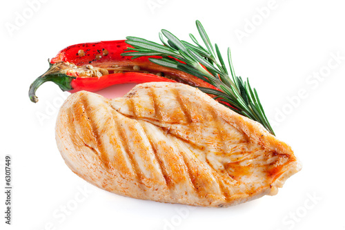 Chicken fillet isolated on white