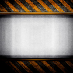 iron plate with hazard stripes