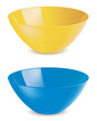 Bowl isolated. Set. Vector illustration