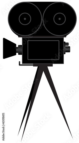 Silhouette of movie camera