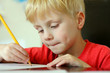 Young Child Drawing on Paper with Pencil - 63019003