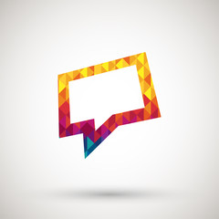 speech bubble with colorful diamond