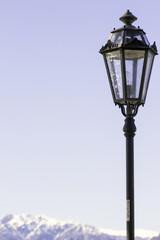 Vintage street light detail color image
