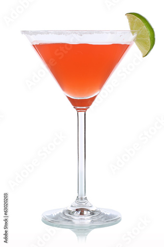 Roter Cocktail im Martini Glas