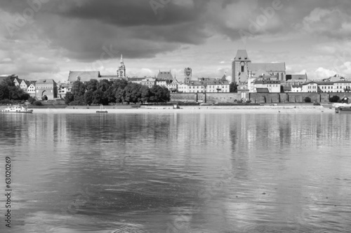 Torun, Poland in black and white