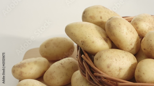 Potatoes, dolly shot