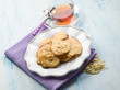 almond cookies with tea