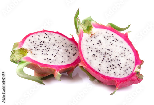 Dragon Fruit isolated on white
