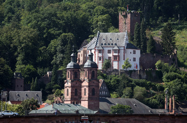 Medieval german town Miltenberg on Main river in Bavaria