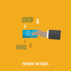 Business concept. Payment methods