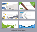 Set of Paper envelope templates for your project design