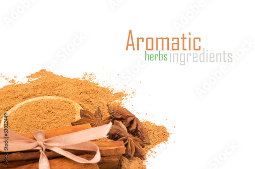 Aromatic ingredients. Dry spices and herbs.
