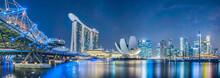 "Постер, картина, фотообои ""Singapore city at night"""