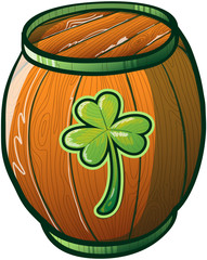 Saint Patrick's Day Barrel of Green Beer