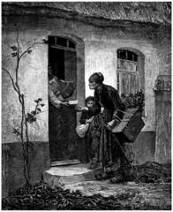 Misery - Vieille Mendiante - 19th century