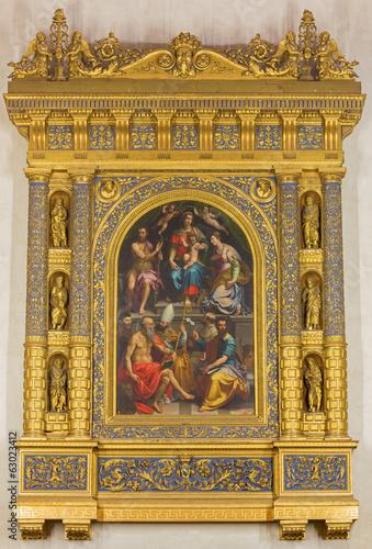 Bologna - renaissance altar in church San Martino.