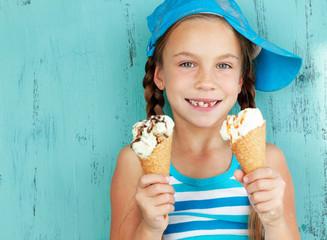 Child with ice cream