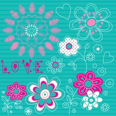beautiful flower floral background vector illustration