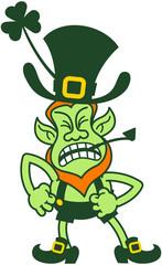 Saint Patrick's Day Angry Leprechaun