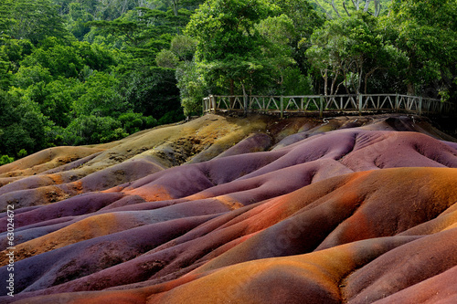Fotobehang Overige Chamarel seven coloured earths on Mauritius