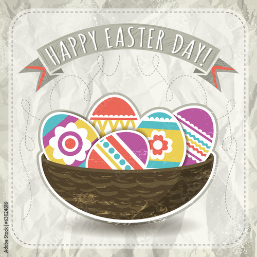 background with easter eggs, vector